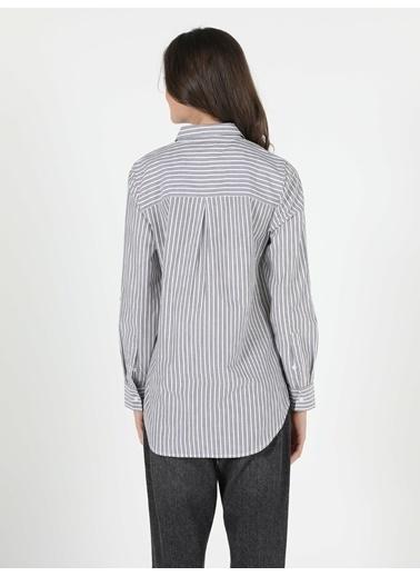 Colin's Kadın Gömlek U.Kol Antrasit